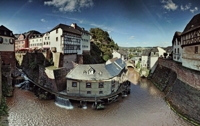 Panaorame Mühlenmuseum Wasserfall Saarburg