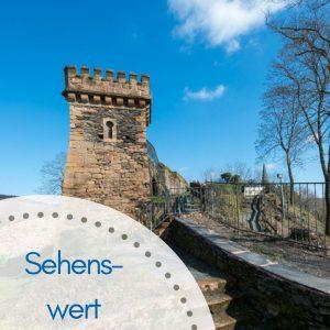 Turm Belevedere, schöner Aussichtspunkt beim Landratsgarten