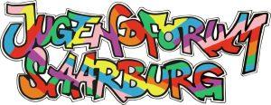 Logo, bunte Graffitischrift, jugendich