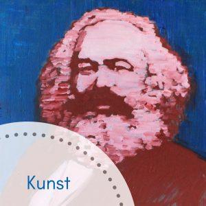 Karl Marx Bildnis aus der Ausstellung Marx Icons im Amüseum