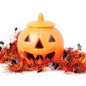Kürbis symbolisiert Halloween Shopping