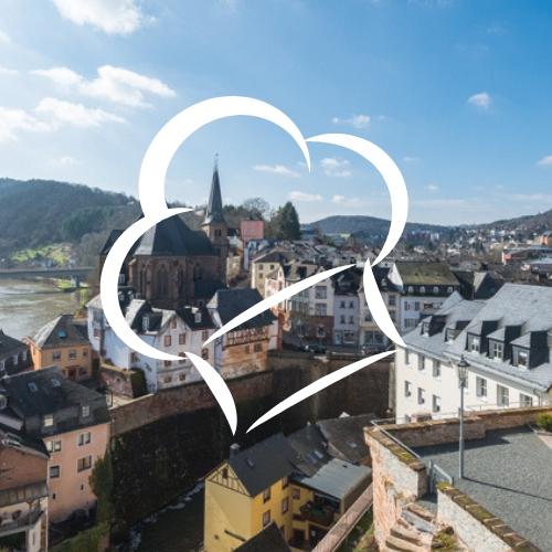 Kulinarischer Stadtrundgang, Bild von Saarburg mit Kochmütze