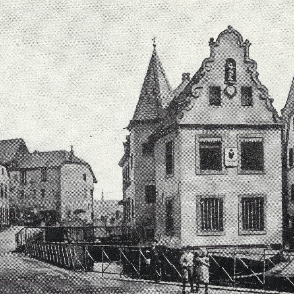 Rathaus auf dem Buttermarkt, historisches schwarz-weiss Bild aus dem Archiv der Kreisverwaltung