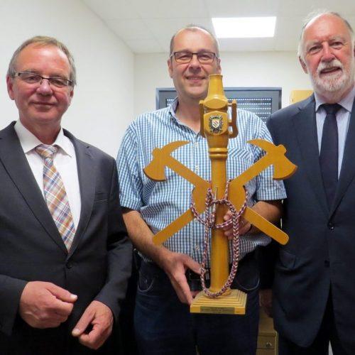 Jürgen Dixius, Christof Leinenbach und Sarrebourgs Bürgermeister Dr. Alain Marty