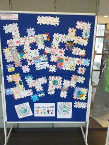 Puzzleteile Ausstellung Weltkindertag