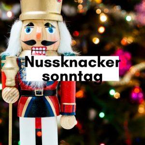 Nussknackersonntag, Foto mit Nussknacker
