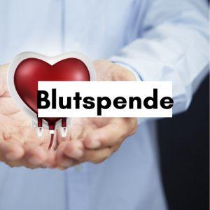 Herz mit Blut in Händen Spendenauftruf DRK