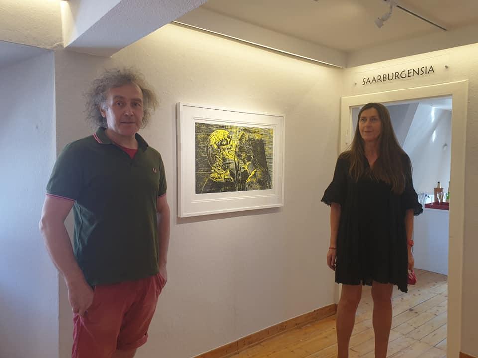 Vernissage Patrick Fauck,, Sabine Repplinger