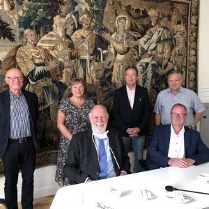 v.l.n.r.: Richard Fuhs, Bernadette Panizzi, Bürgermeister Dr. Alain Marty, Camille Zieger, Denis Wilhelm und Jürgen Dixius
