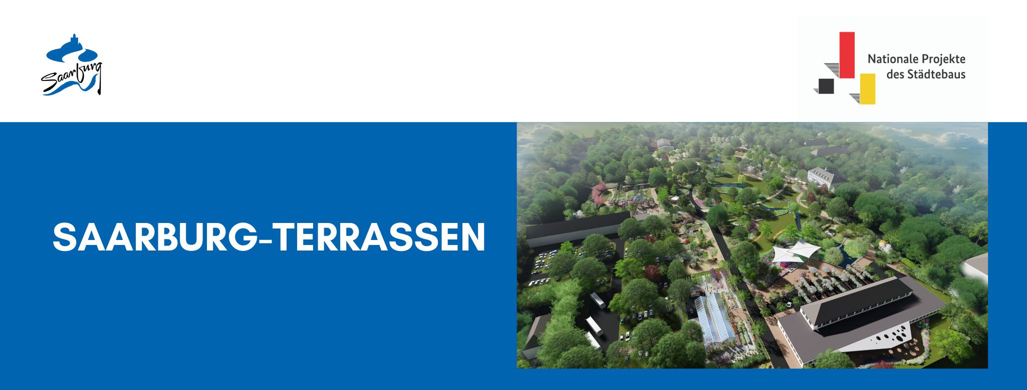 Saarburg-Terrassen Titelbild, zeigt Fotosimulation der Gärten