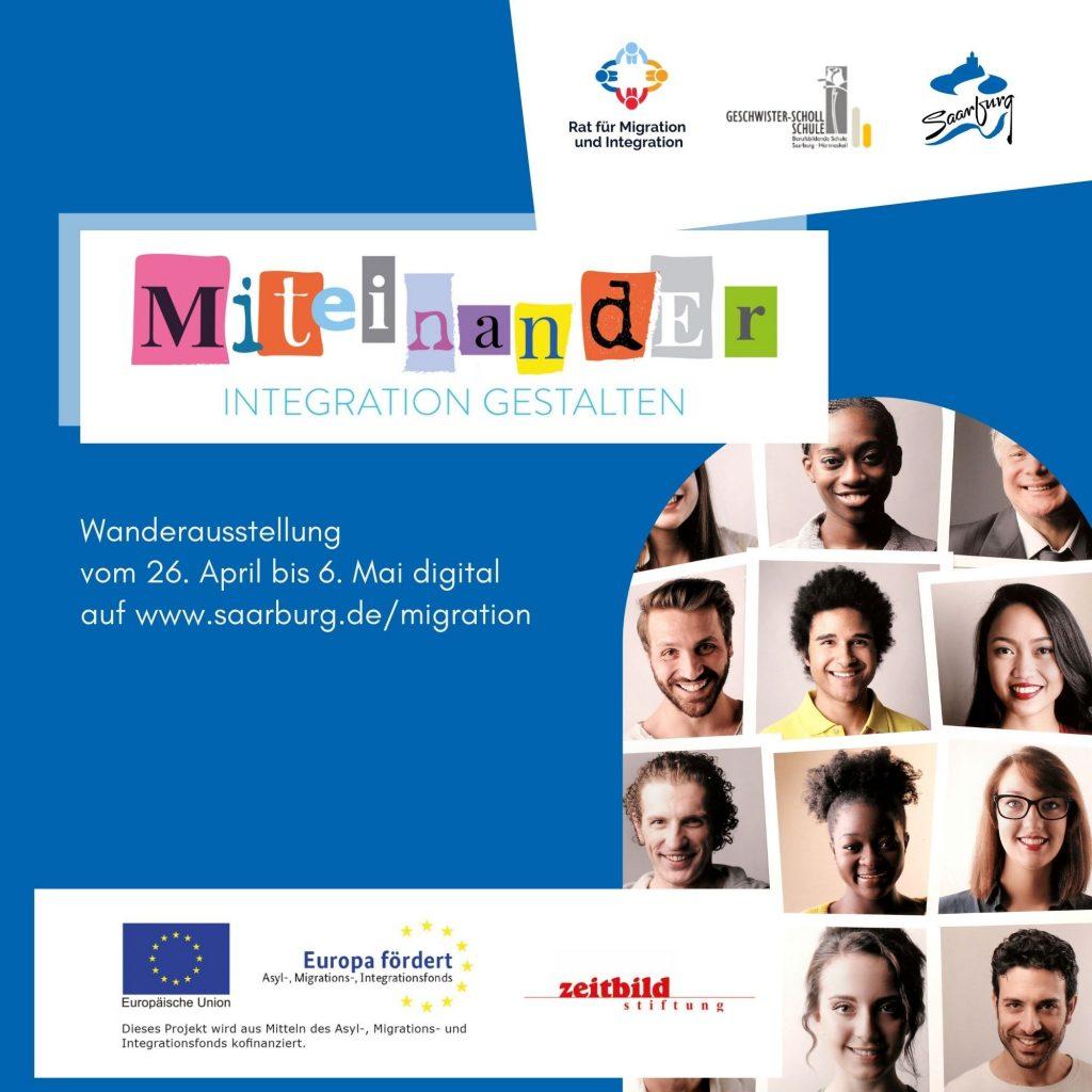 Der Beirat für Migration und Integration der Stadt Saarburg organisiert in Zusammenarbeit mit der Geschwister-Scholl-Schule Saarburg die bundesweite Wanderausstellung